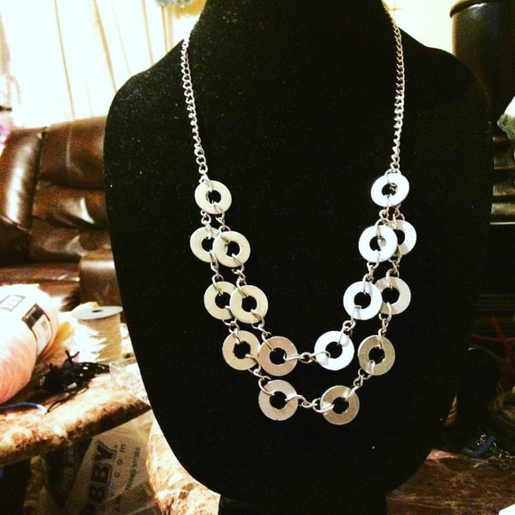 Carrie's Big Beads Jewelry - A washer necklace
